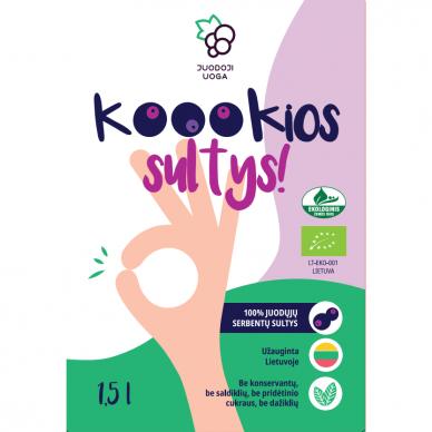 """""""Koookios sultys!"""" ekologiškos juodųjų serbentų sultys 1,5 litro 2"""