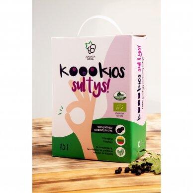 """""""Koookios sultys!"""" ekologiškos juodųjų serbentų sultys 1,5 litro"""